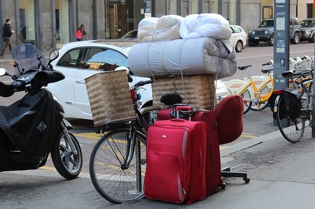 stěhování na kole