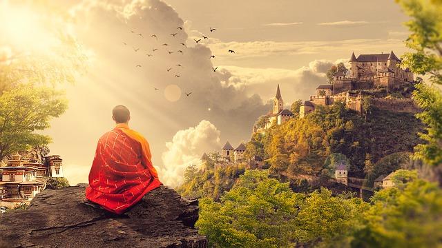 mnich na skále