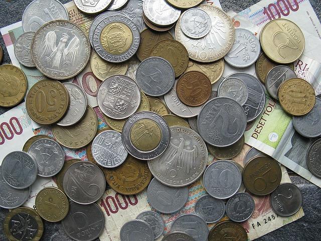 drobné evropské mince